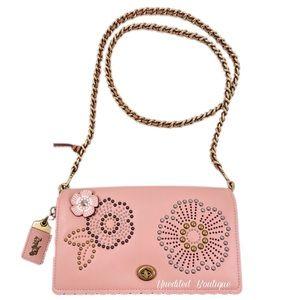 COACH Dinky Crossbody Handbag In Tea Rose Rivets